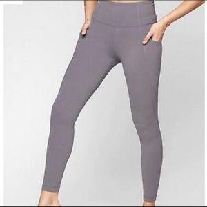 Athleta full length salutation stash pocket tights